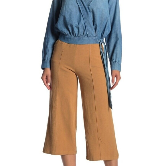 Nordstrom Pants - GOOD LUCK GEM High Waisted Linen Culotte Pants